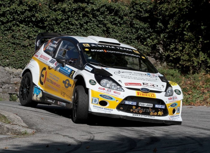 Manuel Sossella, Gabriele Falzone (Ford Fiesta WRC #2, Smart Communication);
